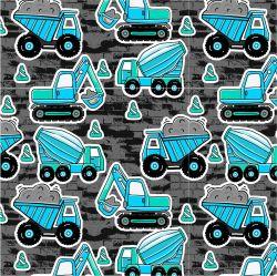 Modré malované nakladače s pruhy-sublimační digitální tisk | Funkční úplet TORINO 140 gsm, GARZATO 200gsm- funkční úplet počesaný, Kočárkovina , LYCRA 200, Micropeach, Softshell jarní 285 gsm, Softshell letní pružný 220gsm, Softshell zimní 320 gsm