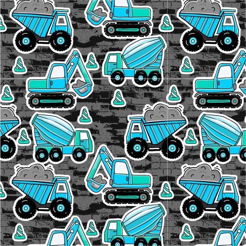Modré malované nakladače s pruhy-sublimační digitální tisk mavaga design