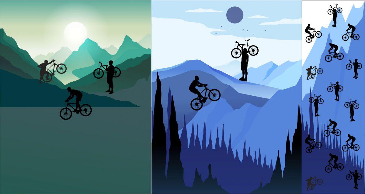 PANEL na triko –cyklistika- varianty mavaga design
