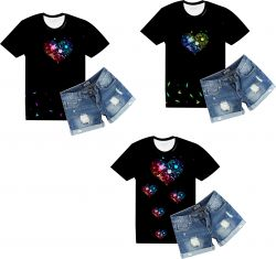 PANEL na triko –SRDÍČKA a kolibříci- varianty mavaga design