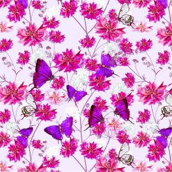 Růžový motýlkové s chrpami-sublimační digitální tisk | DOLOMITY, Funkční úplet TORINO 140 gsm, GARZATO 200gsm- funkční úplet počesaný, Kočárkovina , LYCRA 200, Micropeach, Softshell jarní 285 gsm, Softshell letní pružný 220gsm, Softshell zimní 320 gsm, SILKY
