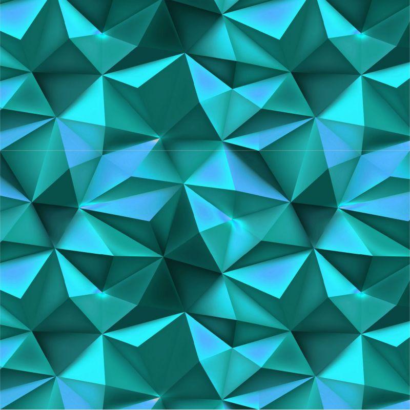 Modré 3D hroty -sublimační digitální tisk mavaga design