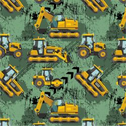 Žluté malované nakladače S PENU na army-sublimační digitální tisk | DOLOMITY, Funkční úplet TORINO 140 gsm, GARZATO 200gsm- funkční úplet počesaný, Kočárkovina , LYCRA 200, Micropeach, Softshell jarní 285 gsm, Softshell letní pružný 220gsm, Softshell zimní 320 gsm