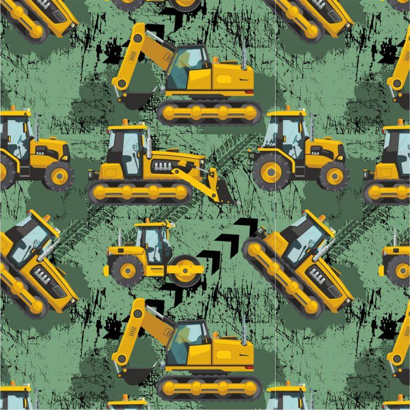 Žluté malované nakladače S PENU na army-sublimační digitální tisk mavaga design