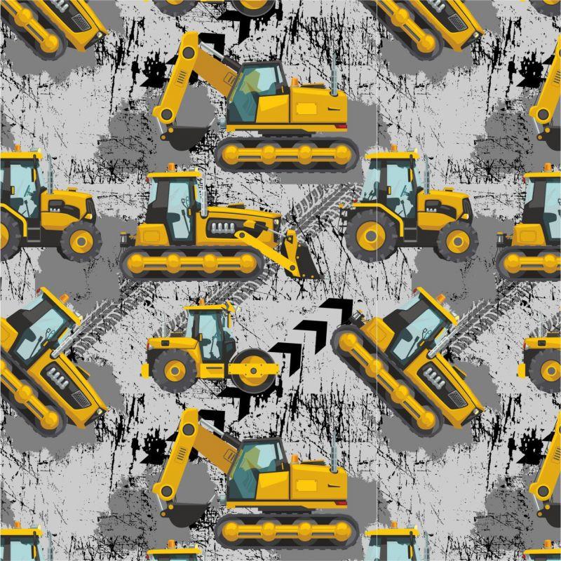 Žluté malované nakladače S PENU na šedé-sublimační digitální tisk mavaga design