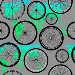 Kola s modro-zelenou mapou -sublimační digitální tisk | Funkční úplet TORINO 140 gsm, GARZATO 200gsm- funkční úplet počesaný, Kočárkovina , LYCRA 200, Micropeach, Softshell jarní 285 gsm, Softshell letní pružný 220gsm, Softshell zimní 320 gsm, DOLOMITY