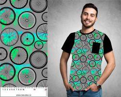 Kola s modro-zelenou mapou -sublimační digitální tisk mavaga design