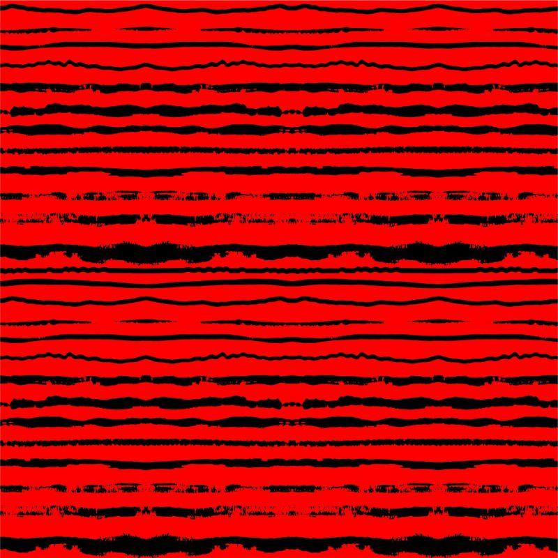 Černo-červené crash pruhy -sublimační digitální tisk mavaga design