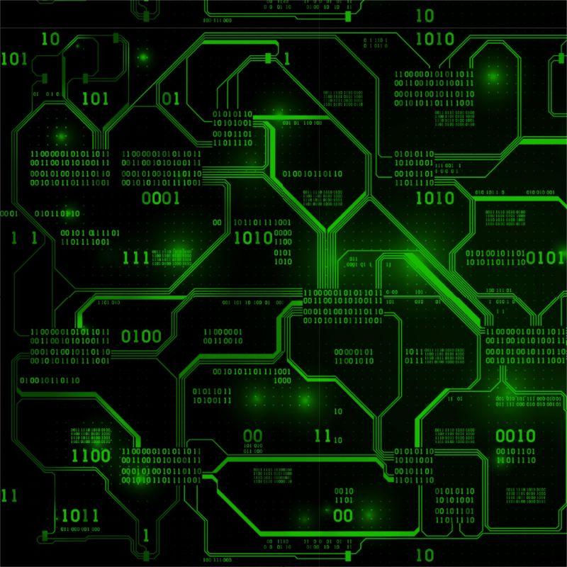 IT technik zelená -sublimační digitální tisk mavaga design