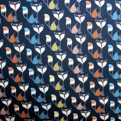 Jednolícní barevné lišky na modrée-220 gsm