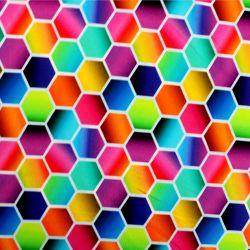 Jednolícní barevné mnohoúhleníky- 210 gsm