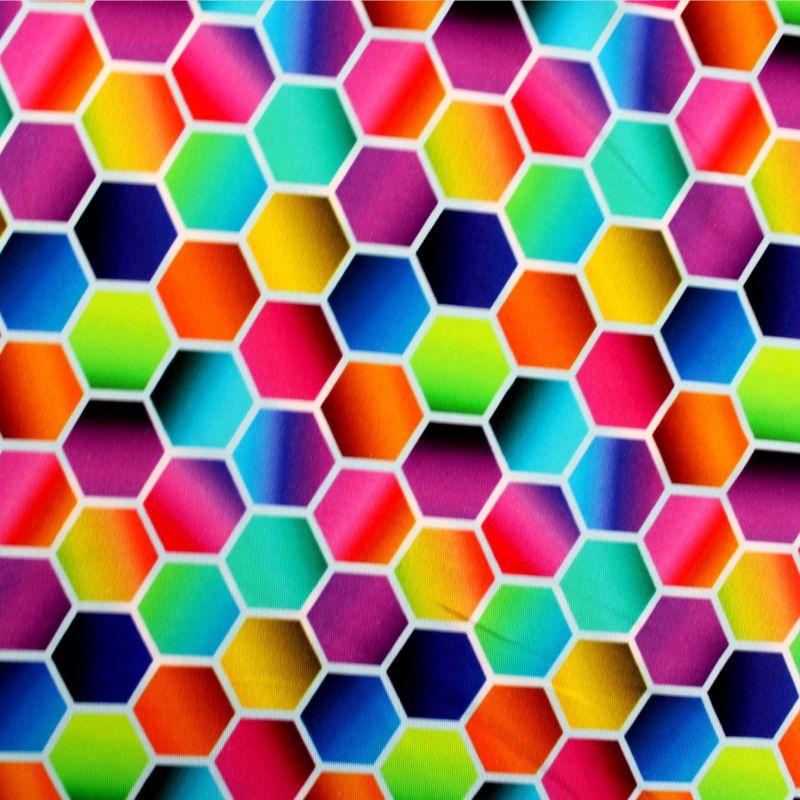 Jednolícní barevné mnohoúhleníky- 210 gsm EU-úplety atest pro děti