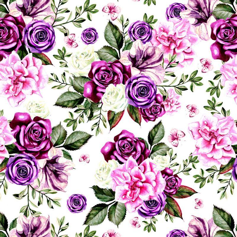 Fialové květy-sublimační digitální tisk mavaga design