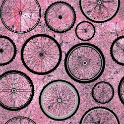 Kola na růžovém betonu -sublimační digitální tisk mavaga design