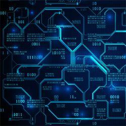 IT technik modrá -sublimační digitální tisk