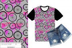 Kola s růžovou mapou -sublimační digitální tisk mavaga design