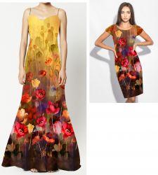 PANEL VELKÝ na šaty / triko/leginy –akvarelové MÁKY- varianty 474 des mavaga design