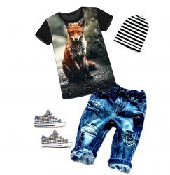PANEL na triko –liška,veverka a medvěd- varianty -DĚTSKÉ mavaga design