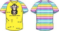PANEL na triko –opice duhová - varianty mavaga design