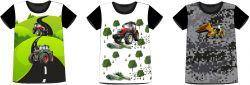 PANEL na triko –traktory- varianty -DĚTSKÉ mavaga design
