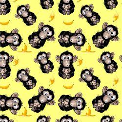 Vykluná opice na žluté -sublimační digitální tisk | DOLOMITY, Funkční úplet TORINO 140 gsm, GARZATO 200gsm- funkční úplet počesaný, Kočárkovina , LYCRA 200, Micropeach, Softshell jarní 285 gsm, Softshell letní pružný 220gsm, Softshell zimní 320 gsm
