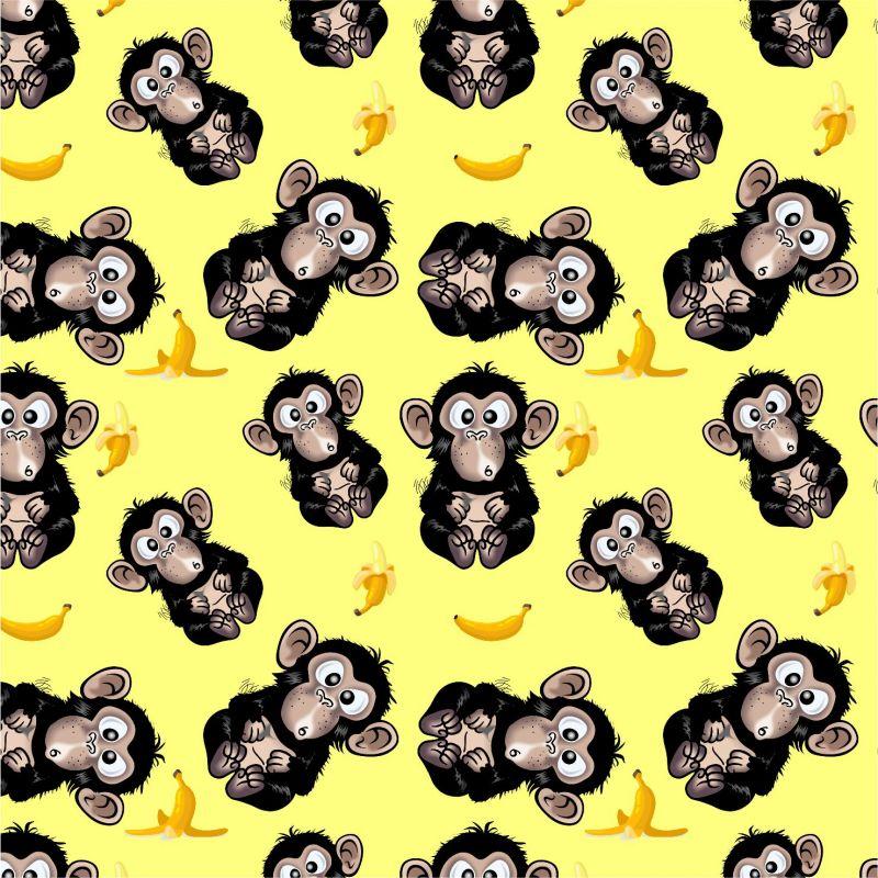 Vykluná opice na žluté -sublimační digitální tisk mavaga design