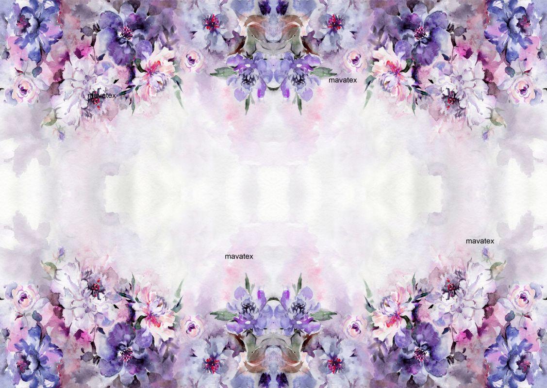 PANEL na šaty / triko/leginy –akvarelové světlé květy- varianty mavaga design