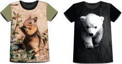 PANEL na triko –liška,veverka a medvěd- varianty mavaga design