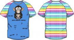 PANEL na triko –opice modrá - varianty mavaga design