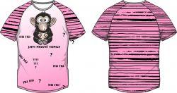 PANEL na triko –opice růžová - varianty mavaga design