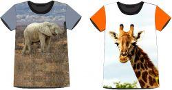 PANEL na triko –slon+žirafa- varianty mavaga design