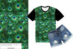 Paví peří -sublimační digitální tisk mavaga design