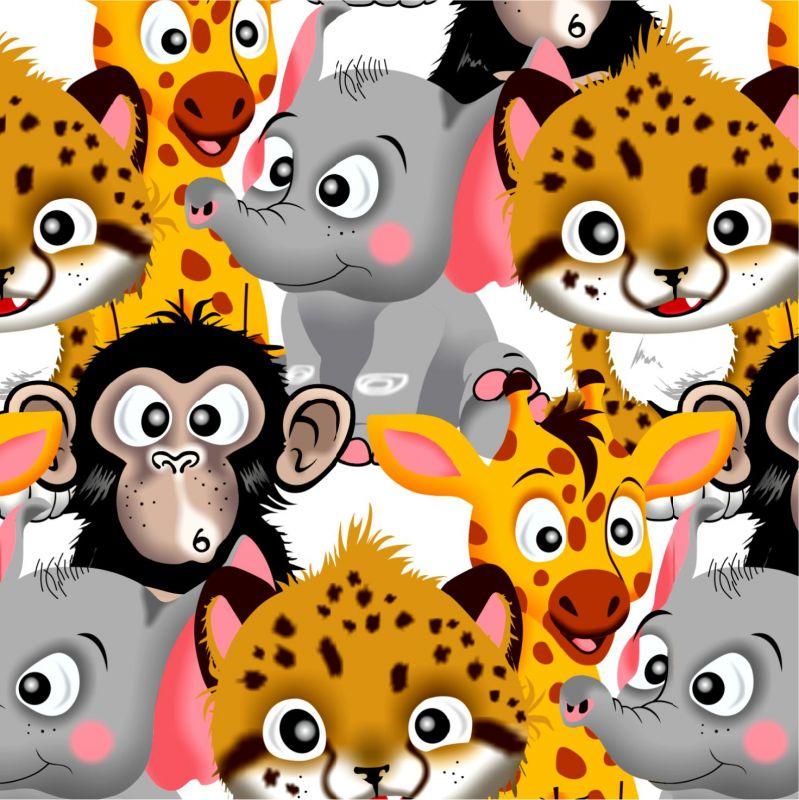 Vykluná jungle zvířátka -sublimační digitální tisk mavaga design