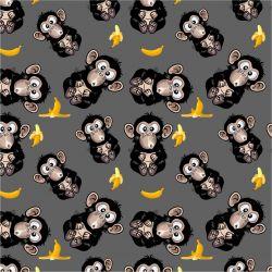 Vykluná opice na šedé -sublimační digitální tisk | DOLOMITY, Funkční úplet TORINO 140 gsm, GARZATO 200gsm- funkční úplet počesaný, Kočárkovina , LYCRA 200, Micropeach, Softshell jarní 285 gsm, Softshell letní pružný 220gsm, Softshell zimní 320 gsm