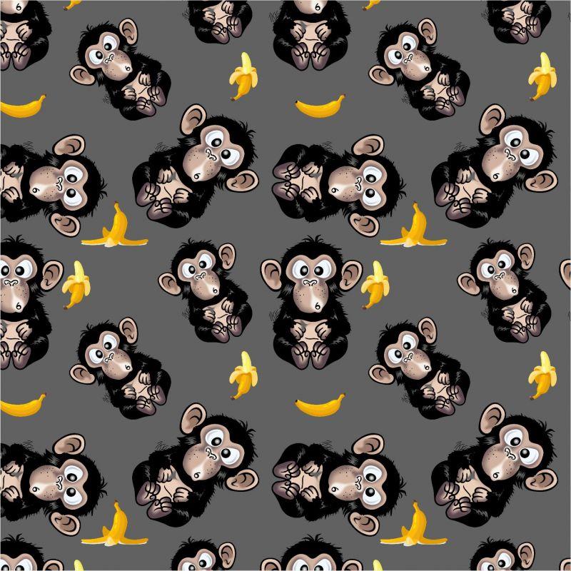 Vykluná opice na šedé -sublimační digitální tisk mavaga design