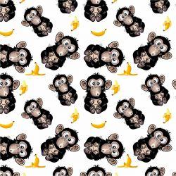 Vykluná opice na bílé -sublimační digitální tisk | DOLOMITY, Funkční úplet TORINO 140 gsm, GARZATO 200gsm- funkční úplet počesaný, Kočárkovina , LYCRA 200, Micropeach, Softshell jarní 285 gsm, Softshell letní pružný 220gsm, Softshell zimní 320 gsm