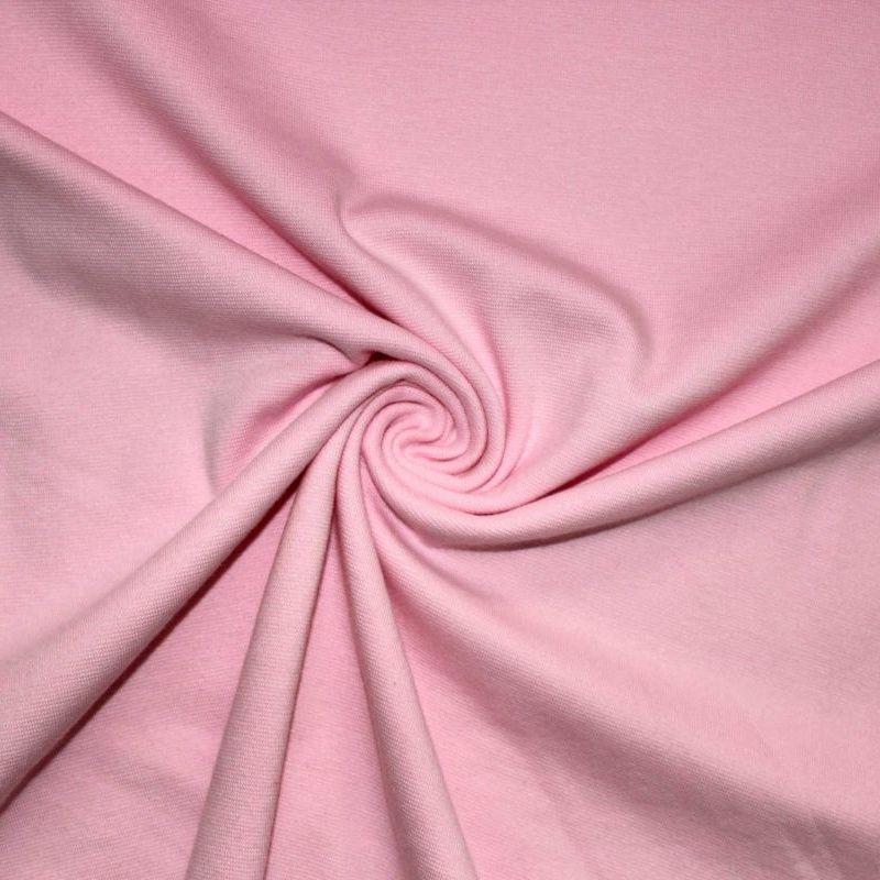 Rib 1x1 světle růžová s elastanem- barva 92 EU-úplety atest pro děti