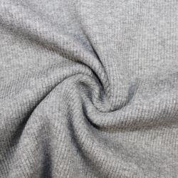Rib 2x2 tmavě šedá mellange - barva 140