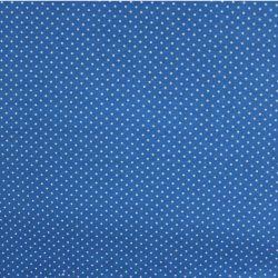 Jednolícní úplet středně modrý s MINI puntíky