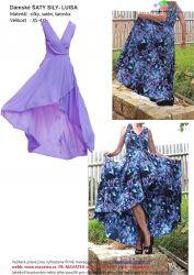 Elektronický střih - Dámské šaty-překřížené silky -LUISA