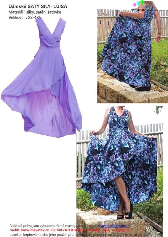 Elektronický střih - Dámské šaty-překřížené silky -LUISA Mavatex