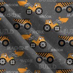 Traktory a nakldače na šedé-sublimační digitální tisk mavaga design
