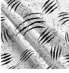 Drápy na bílé 2-sublimační digitální tisk | Funkční úplet TORINO 140 gsm, GARZATO 200gsm- funkční úplet počesaný, Kočárkovina , LYCRA 200, Micropeach, Softshell jarní 285 gsm, Softshell letní pružný 220gsm, Softshell zimní 320 gsm