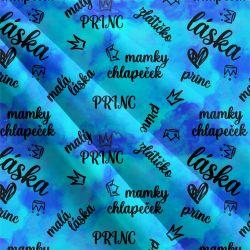 Mamky chlapeček modrá-sublimační digitální tisk | Funkční úplet TORINO 140 gsm, GARZATO 200gsm- funkční úplet počesaný, Kočárkovina , LYCRA 200, Micropeach, Softshell jarní 285 gsm, Softshell letní pružný 220gsm, Softshell zimní 320 gsm