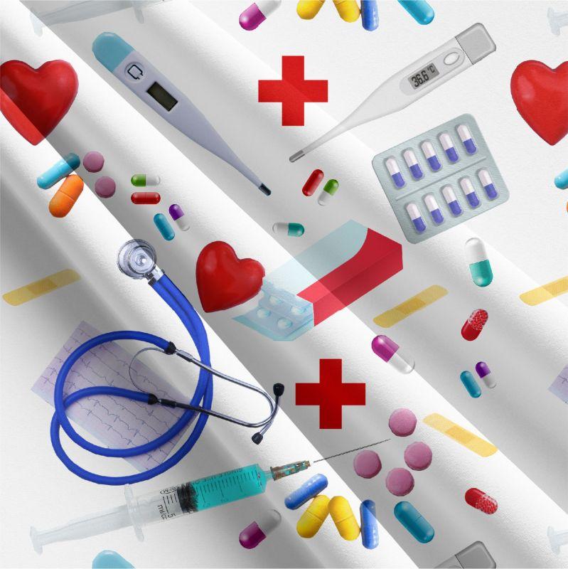 Reálný medical bílá -sublimační digitální tisk mavaga design
