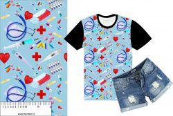 Reálný medical modrá -sublimační digitální tisk mavaga design
