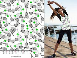 Tenis černo-bílá podkreslené-sublimační digitální tisk mavaga design