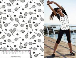 Tenis černo-bílá-sublimační digitální tisk mavaga design