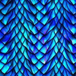 Teplákovina dračí kůže modrá - 270 gsm