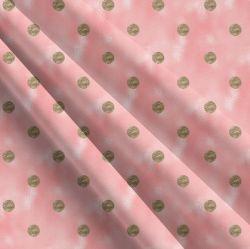 Zlaté puntíky na růžovém skle -sublimační digitální tisk | Funkční úplet TORINO 140 gsm, GARZATO 200gsm- funkční úplet počesaný, Kočárkovina , LYCRA 200, Micropeach, Softshell jarní 285 gsm, Softshell letní pružný 220gsm, Softshell zimní 320 gsm